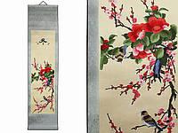 Свиток на стену Сакура и птицы