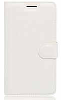 Кожаный чехол-книжка для Meizu M3 Note белый