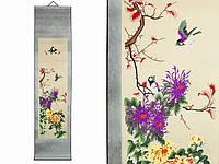 Свиток на стену Хризантемы и птицы