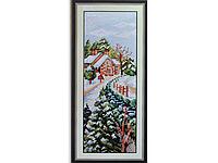 Набор для вышивки картины Время года - Зима 40х20см