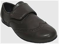 Детские школьные туфли коричневые для мальчика VITALIYA, размеры 32-36