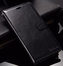 Кожаный чехол-книжка для Xiaomi Redmi note 3/ note 3 pro черный