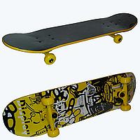 "Скейт ""Display Sport"" Желтый. До 90 кг."