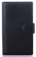 Кожаный чехол книжка для  Nokia Lumia 435/532 черный
