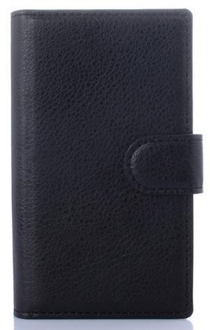 Кожаный чехол книжка для  Nokia Lumia 435/532 черный, фото 2