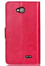 Кожаный чехол книжка для LG Optimus L70 черный, фото 3