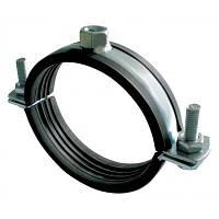 Хомут для трубы 3 1/2 (100-110мм) с резиновым уплотнителем и гайкой под шпильку М8