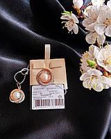 Серебряные серьги БОГЕМА 925 пробы со вставками золота 375 пробы , фото 1