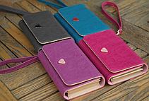 Женский кожаный кошелек визитница клатч синий, фото 2