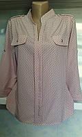Блуза женская с погончиками и стойкой