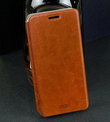 Кожаный чехол книжка MOFI Lenovo A8 A806 A808T коричневый