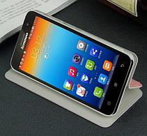 Кожаный чехол книжка MOFI Lenovo A8 A806 A808T коричневый, фото 2