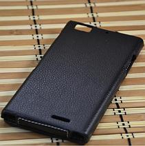 Кожаный чехол-флип Melkco для Lenovo K900 черный, фото 3
