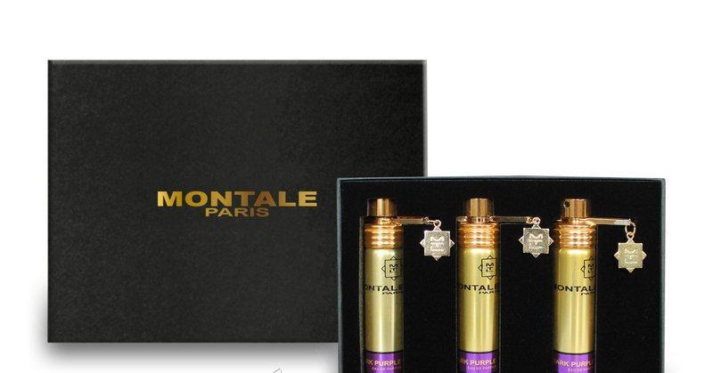 Подарочный набор женский Montale Dark Purple (Монталь Дарк Пурпл) 3*20 мл