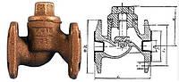 Клапан обратный чугунный фланцевый 16ч3р,п д.40