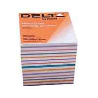 "Бумага ""Mix"" для заметок Delta D8015, 90х90х80 мм, непроклееная"