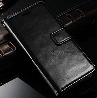 Кожаный чехол-книжка для HTC Desire 816 черный