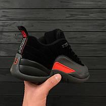 Мужские кроссовки Air Jordan 12 Retro Low Black/Orange топ реплика, фото 2