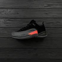 Мужские кроссовки Air Jordan 12 Retro Low Black/Orange топ реплика, фото 3