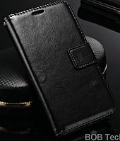 Кожаный чехол для Lenovo S660 черный