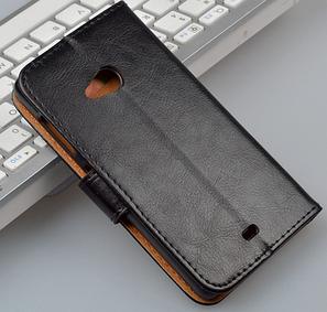 Чехол книжка для  Nokia Lumia 535 черный, фото 2