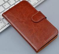 Чехол книжка для  Nokia Lumia 900 коричневый