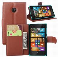 Чехол книжка для  Nokia Lumia 435/532 коричневый