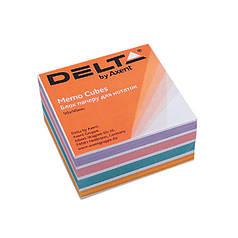 "Бумага ""Color"" для заметок Delta D8023, 90х90х30 мм, непроклееная, 500 листов"