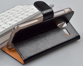 Кожаный чехол для Lenovo S580 черный, фото 3