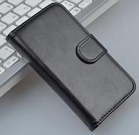 Кожаный чехол-книжка для Lenovo A398T черный