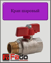 """Кран кульовий Fado NEW 1/2"""" НВ PN40 (метелик)"""
