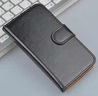Кожаный чехол-книжка  для Lenovo A916 черный