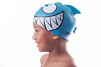 Шапочка для плавания детская Shepa акула (original) для бассейна, силикон