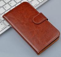 Кожаный чехол-книжка для Lenovo A916 коричневый