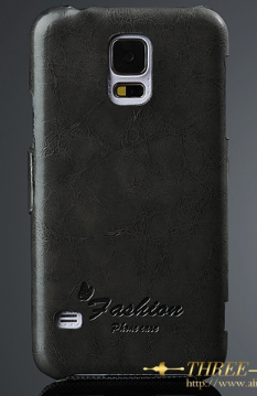 Кожаный чехол-книжка для Samsung Galaxy S5 i9600 SM-G900 черный