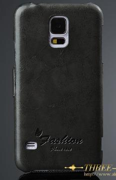 Кожаный чехол-книжка для Samsung Galaxy S5 i9600 SM-G900 черный, фото 2