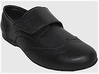 Детские школьные туфли чёрные для мальчика VITALIYA, размеры 32-36