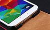 Кожаный чехол флип для Samsung Galaxy S5 i9600 SM-G900 розовый, фото 2