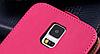Кожаный чехол флип для Samsung Galaxy S5 i9600 SM-G900 розовый, фото 4