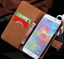 Кожаный чехол-книжка для Samsung Galaxy S5 i9600 SM-G900 белый, фото 3