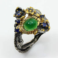 Оникс, серебро 925, кольцо ручная работа, 444КО