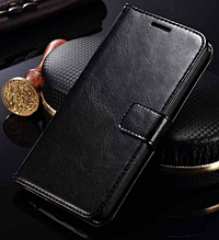 Кожаный чехол-книжка для Meizu M1 Note черный