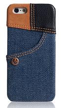 Унікальний чохол бампер для iPhone 5, 5S джинс синій