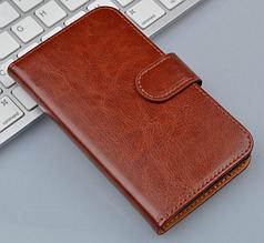 Кожаный чехол-книжка для Meizu Mx2 коричневый