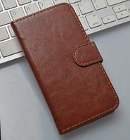 Кожаный чехол-книжка для Meizu Mx4 коричневый