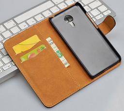 Кожаный чехол-книжка для Meizu Mx5 коричневый, фото 2