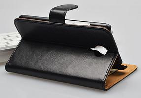 Кожаный чехол-книжка для Meizu Mx5 коричневый, фото 3