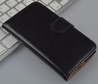 Кожаный чехол-книжка для Sony Xperia E Dual C1605 черный