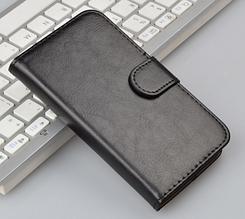 Кожаный чехол-книжка для  Huawei Y5 / Ascend Y560 (2015) черный