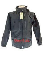 Куртка черная тактическая MIL-TEC Softshell PCU Black 10863002